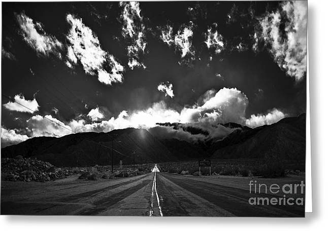 Aerial Tram Road Palm Springs Greeting Card by Art K
