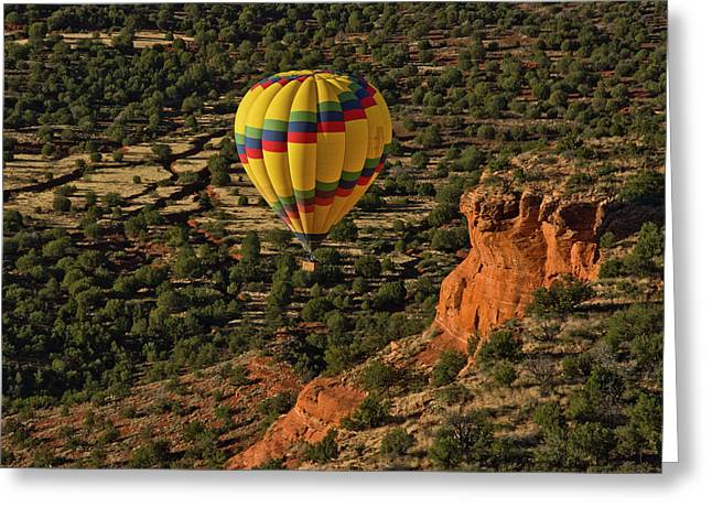 Aerial View, Doe Mesa, Red Rock Greeting Card
