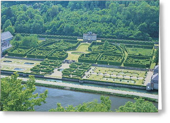 Aerial View, Freyr Castle, Ardennes Greeting Card by Panoramic Images