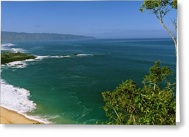 Aerial View Of A Beach, North Shore Greeting Card by Panoramic Images