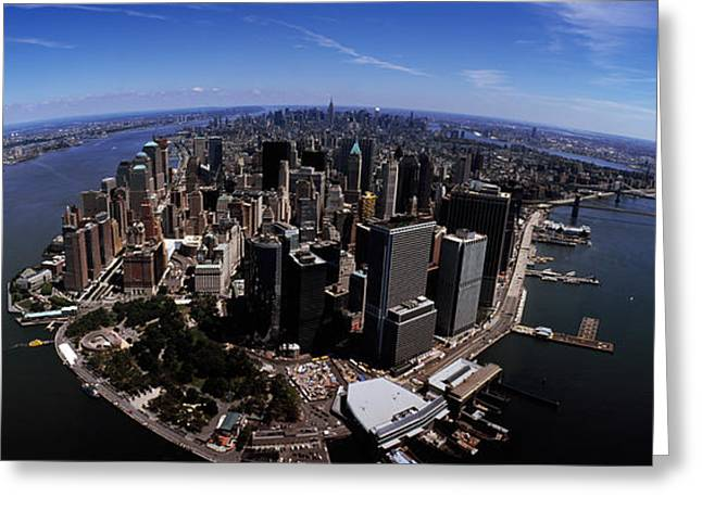 Aerial View Of A City, New York City Greeting Card by Panoramic Images