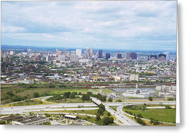 Aerial View Of A City, Newark, New Greeting Card