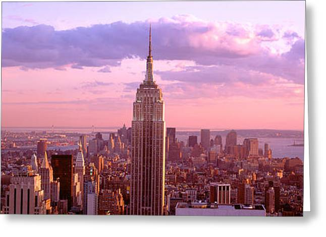 Aerial View Of A City, Rockefeller Greeting Card by Panoramic Images