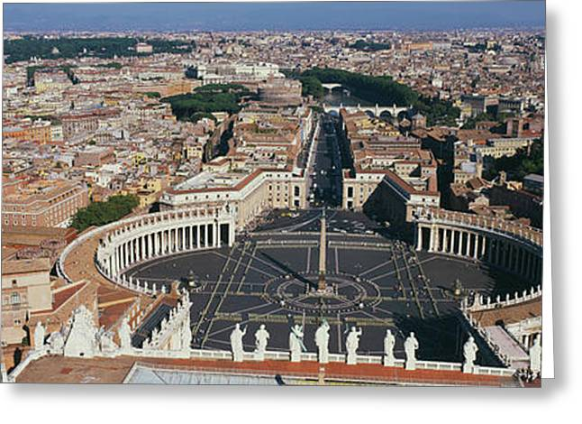 Aerial View Of A City, St. Peters Greeting Card by Panoramic Images