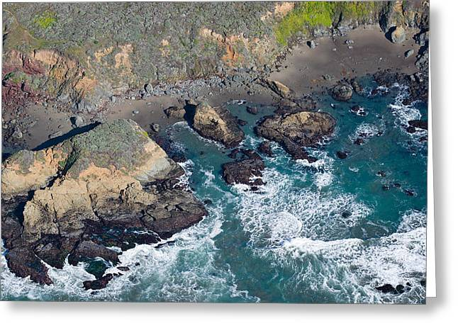 Aerial View Of A Coast, San Luis Obispo Greeting Card