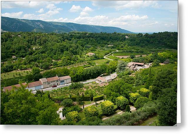 Aerial View Of A Plant Nursery Greeting Card by Panoramic Images