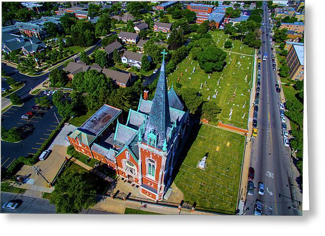Aerial View Of Angel Guardian Church Greeting Card