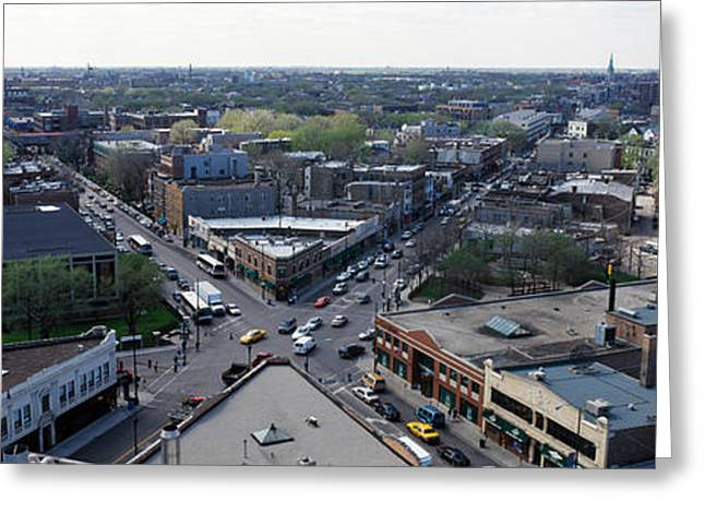 Aerial View Of Crossroad Of Six Greeting Card by Panoramic Images