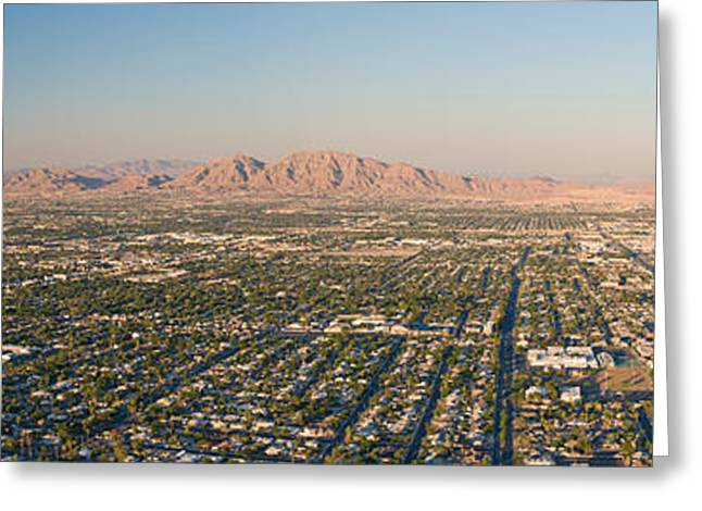 Aerial View Of Las Vegas Greeting Card by Panoramic Images