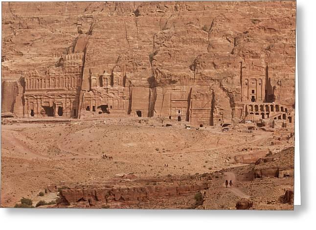 Aerial View Of Royal Tombs At Ancient Greeting Card
