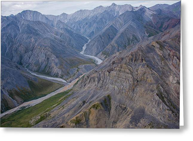 Aerial View Of The Brooks Range Greeting Card by Cathy Hart
