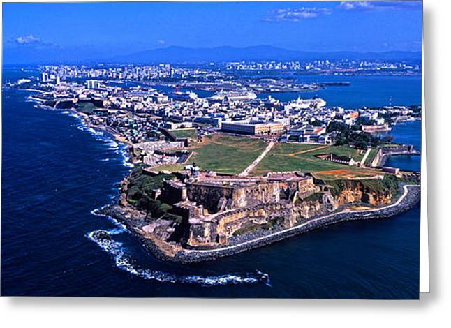 Aerial View Of The Morro Castle, San Greeting Card