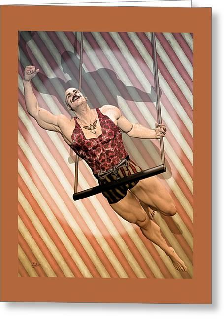 Aerialist Circus Greeting Card by Quim Abella
