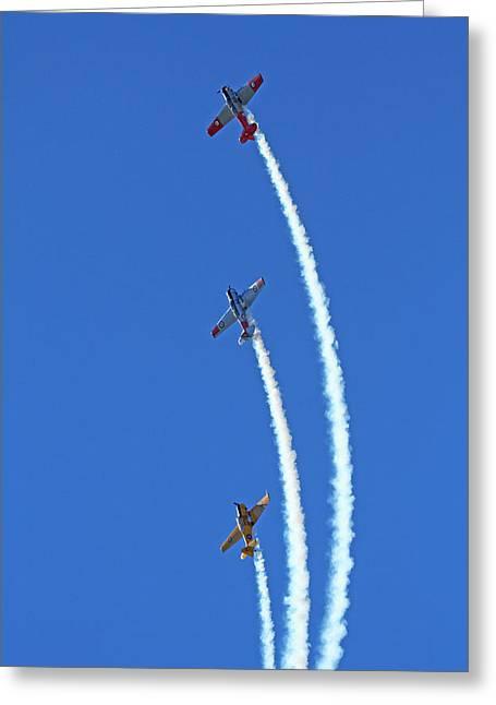Aerobatic Display By North American Greeting Card by David Wall