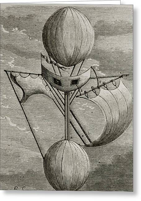 Aeronautical Vessel Greeting Card by Science Photo Library