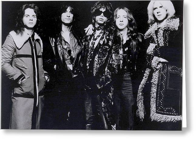 Aerosmith - America's Greatest Rock N Roll Band Greeting Card by Epic Rights