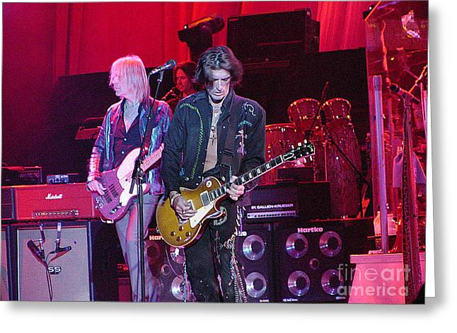 Aerosmith-joe Perry-00019-1 Greeting Card by Gary Gingrich Galleries