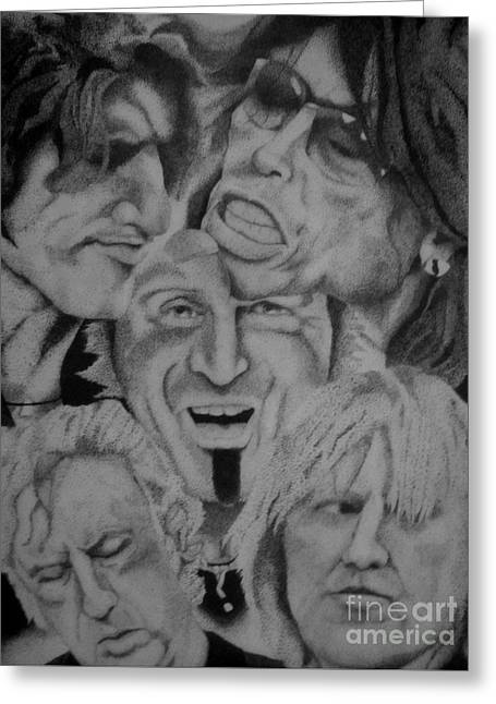Aerosmith Portrait Greeting Card