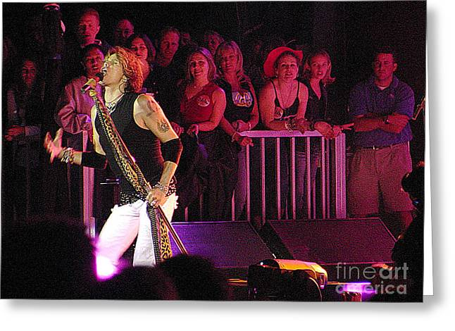 Aerosmith-steven Tyler-00074 Greeting Card