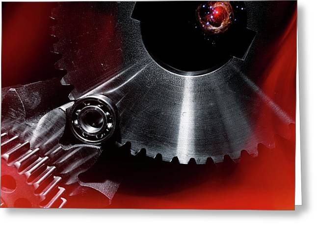 Aerospace Gears Greeting Card
