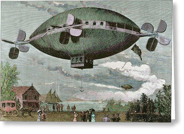 Aerostat Engraving In 'the Greeting Card by Prisma Archivo