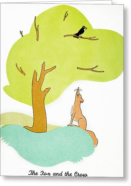 Aesop: Fox & Crow Greeting Card by Granger