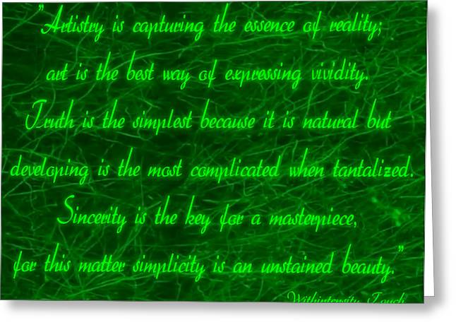 Aesthetic Quote 1 Greeting Card