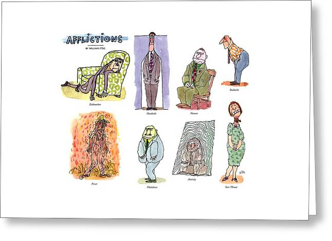 Afflictions Greeting Card by William Steig