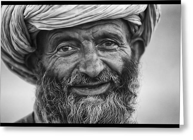 Afghan Herdsman Greeting Card by David Longstreath