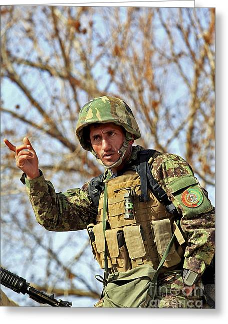 Afghan National Army Soldier Greeting Card
