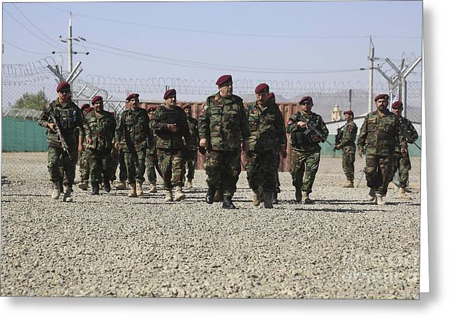 Afghan National Army Soldiers Greeting Card