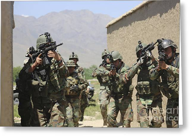 Afghan National Army Special Forces Greeting Card