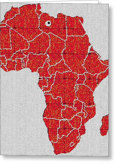 Africa Calling Greeting Card by Giuseppe Epifani