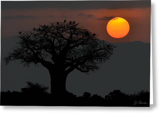 Africa Fantasy Greeting Card by Joe Bonita