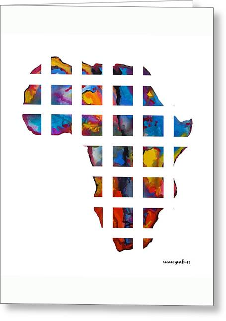 Africa In Pieces Greeting Card