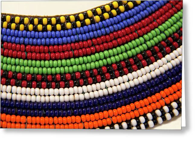 Africa, Kenya Maasai Tribal Beads Greeting Card
