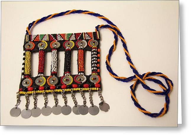 Africa, Kenya Maasai Tribal Beadwork Greeting Card by Kymri Wilt