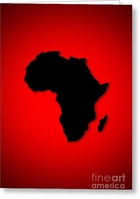 Greeting Card featuring the digital art Africa  by Mohamed Elkhamisy