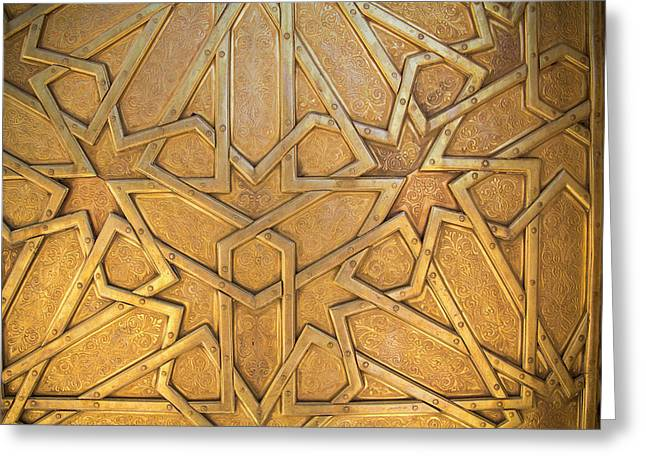 Africa, Morocco, Fes, Fes Medina, Brass Greeting Card by Emily Wilson