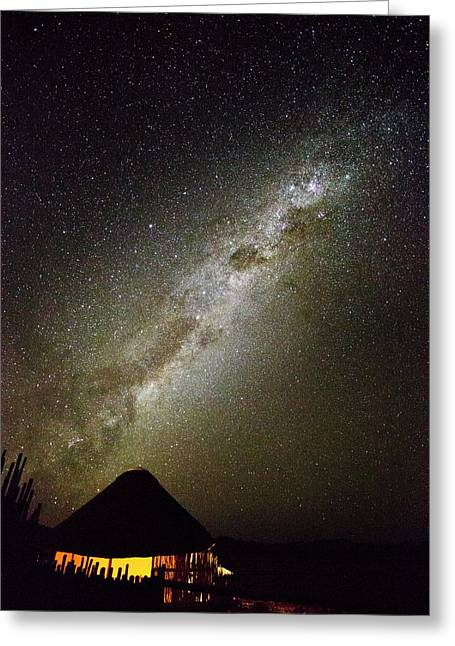 Africa, Namibia Milky Way And Night Sky Greeting Card by Jaynes Gallery