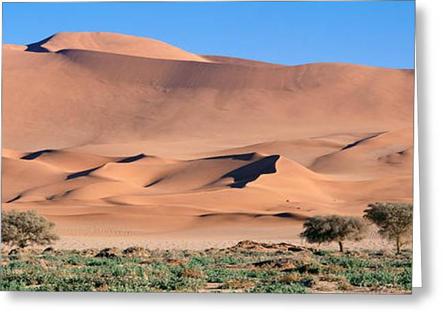 Africa, Namibia, Namib Desert Greeting Card by Panoramic Images