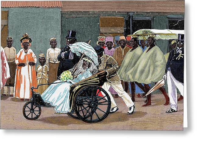 Africa Sierra Leone Bride Of The High Greeting Card by Prisma Archivo