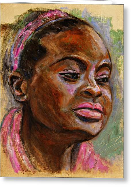 African American 3 Greeting Card by Xueling Zou