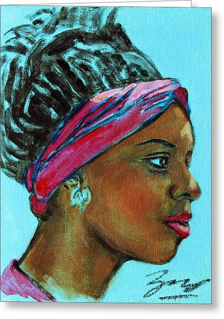African American 5 Greeting Card