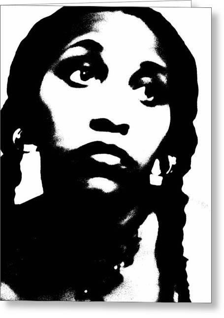 African American Girl P7292079 Greeting Card