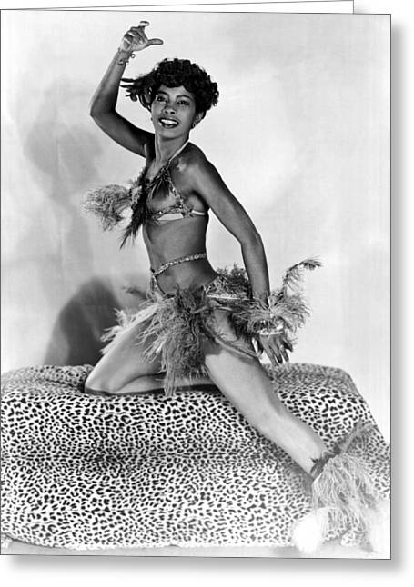 African American Woman Dancer Greeting Card by Underwood Archives