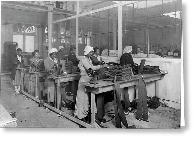 African-american Women Manufacturing Greeting Card