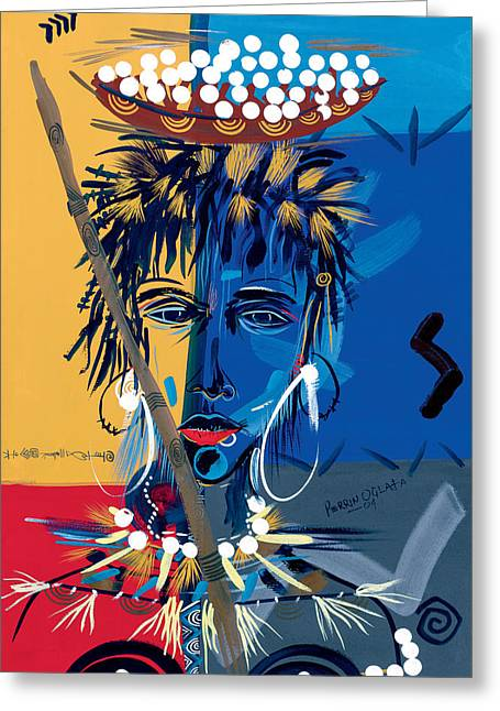 African Beauty 1 Greeting Card
