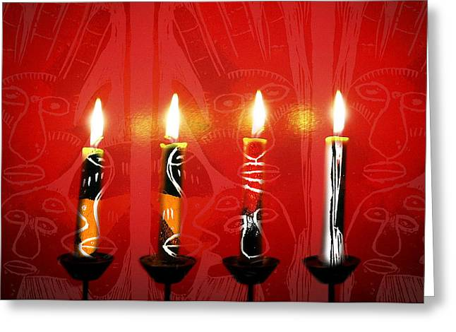 African Candles Greeting Card