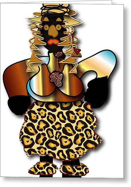 Greeting Card featuring the digital art African Dancer 2 by Marvin Blaine